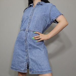 Vintage 1990s denim mini dress